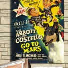 Collie Smooth Poster Canvas Print  -  Abbott and Costello Go To Mars  Movie Poster