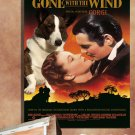 Welsh Corgi Cardigan Poster Canvas Print  - Gone with the Wind Movie Poster