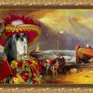 Shih Tzu Fine Art Canvas Print - Red pirate takes the fish from fishermen