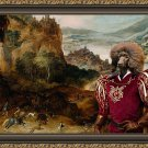 Standard Poodle Fine Art Canvas Print - Entertainment hunters and falconers