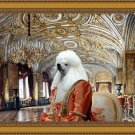 Standard Poodle Fine Art Canvas Print - The Gold Drawing Room in Palace
