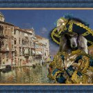 Standard Poodle Fine Art Canvas Print - The Grand Canal, Venice