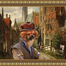 Tibetan Spaniel Fine Art Canvas Print - A Dutch street with Duke