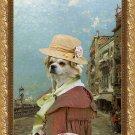 Tibetan Spaniel Fine Art Canvas Print - Riva Dei Sette Martin, Venice