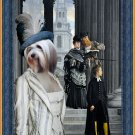 Tibetan Terrier Fine Art Canvas Print - Tourist visitors