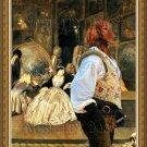 Dachshund Miniature Longhaired Fine Art Canvas Print - Antique dealer