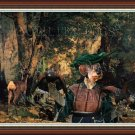 Dachshund Miniature Wirehaired Fine Art Canvas Print - A Thicket of Deer