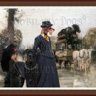 Dachshund Miniature Wirehaired Fine Art Canvas Print - Waiting diligance