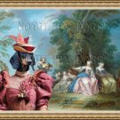 Dachshund Standard Smoothaired Fine Art Canvas Print - the bride is courted