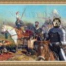 Alaskan Malamute Fine Art Canvas Print - Battle