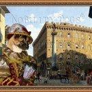 American Akita Fine Art Canvas Print - Piazza Santa Trinita Firenze