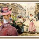 Basenji Fine Art Canvas Print - A Purchase of flowers