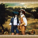 Basenji Fine Art Canvas Print - The ceremony with musketeers