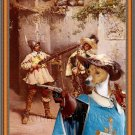 Basenji Fine Art Canvas Print - The Musketeers
