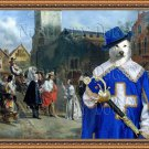 Canaan Dog Fine Art Canvas Print - Charles I Lami Louvre