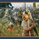 Finnish Spitz Fine Art Canvas Print - Win or Die !