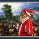 German Spitz Fine Art Canvas Print - The battle and courier news