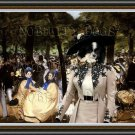 German Spitz Fine Art Canvas Print - Music with Tuileries