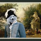 German Spitz Fine Art Canvas Print - Ruins on the Terrace in Marly Park