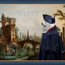 German Spitz Fine Art Canvas Print - Meeting for the negotiation