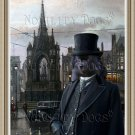 German Spitz Fine Art Canvas Print - Gentleman in the Square