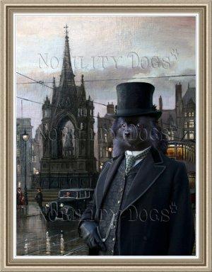 German Spitz Fine Art Canvas Print - Gentleman in the Square