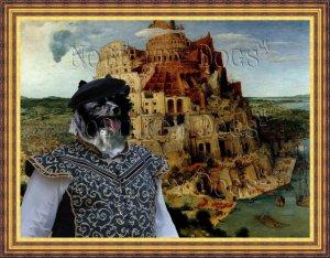 German Spitz Fine Art Canvas Print - The Tower of Babel