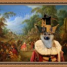 Icelandic Sheepdog Fine Art Canvas Print - Village dance
