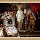 Keeshond Fine Art Canvas Print - The Italian comedians