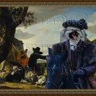 Keeshond Fine Art Canvas Print - Black horserider