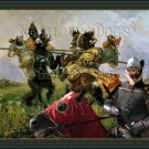 Norwegian Elkhound Grey Fine Art Canvas Print - The duel