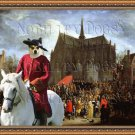 Norwegian Lundehund Fine Art Canvas Print - Arrival of Cardinal