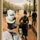 Peruvian Hairless Dog Fine Art Canvas Print - La Modiste Sur Les Champs Elysees