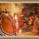 Portuguese Warren Hound Fine Art Canvas Print - The Spanish Dancer