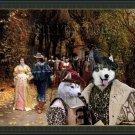 Siberian Husky Fine Art Canvas Print - The Fiancee and their Parents