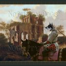 Swedish Elkhound Fine Art Canvas Print - The Ruins