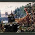 Swedish Elkhound Fine Art Canvas Print - The  memory  of my Viking  ship