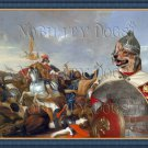 Swedish Vallhund Fine Art Canvas Print - Battle
