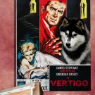 Siberian Husky Canvas Print - VERTIGO Movie Poster