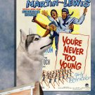 Siberian Husky Canvas Print - You're Never Too Young Movie Poster