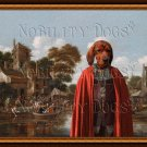 Alpine Dachsbracke Fine Art Canvas Print - River in the Town