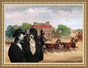 Ariegeois Fine Art Canvas Print - Drags of the Four in Hand Club