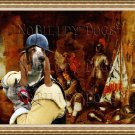 Basset Hound Fine Art Canvas Print - For the Queen and the Fatherland