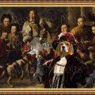 Beagle Fine Art Canvas Print - Family Portrait with dogs,monkey and prey birds