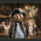 Beagle Fine Art Canvas Print - The Garden party