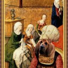 Bloodhound Fine Art Canvas Print - The Flemish lady and her maids
