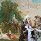 Porcelaine Fine Art Canvas Print - A rural Courtship