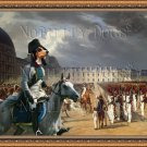 Small Swiss Hound Berner Fine Art Canvas Print - Parade in the Court of the Tuileries Palace