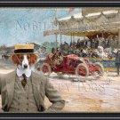 Westphalian Dachsbracke Fine Art Canvas Print - Les premieres competitions Automobiles