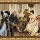 Skye Terrier Fine Art Canvas Print - The serenade